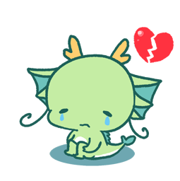 Dragon relax Facebook sticker #12