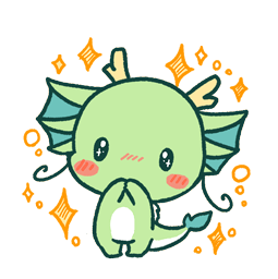 Dragon relax Facebook sticker #18